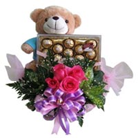 Roses, Teddy & Choco Delight