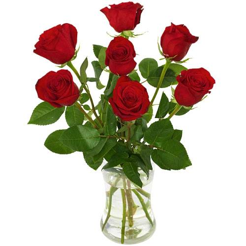 Mesmerizing Love Red Roses with Vase
