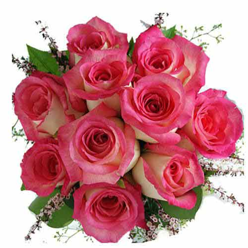 Magical Tempting Moments Pink Roses Bouquet
