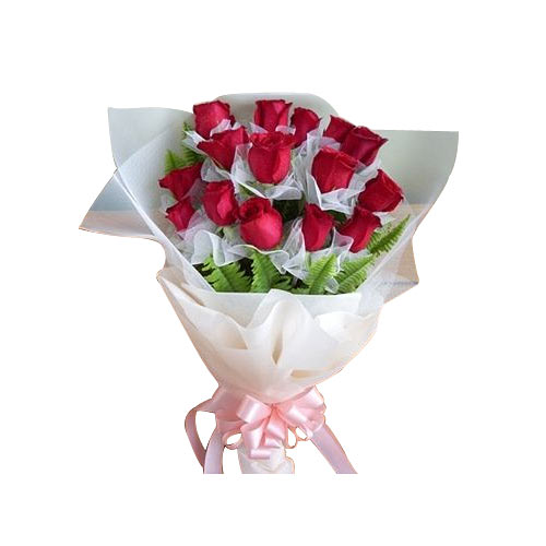 Exotic Love 15 Red Roses Bouquet