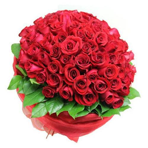 Enchanting Bouquet of 99 Red Roses