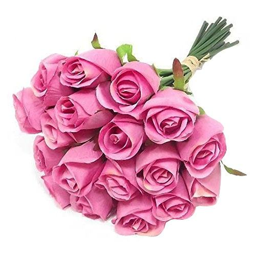Striking Bouquet of 18 Pink Roses