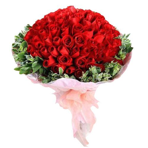 Exotic Bouquet of 99 Red Roses