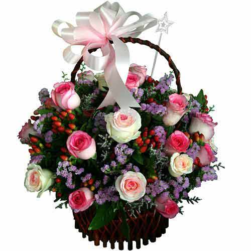 Festive Forever Yours Bouquet of Mixed Flowers