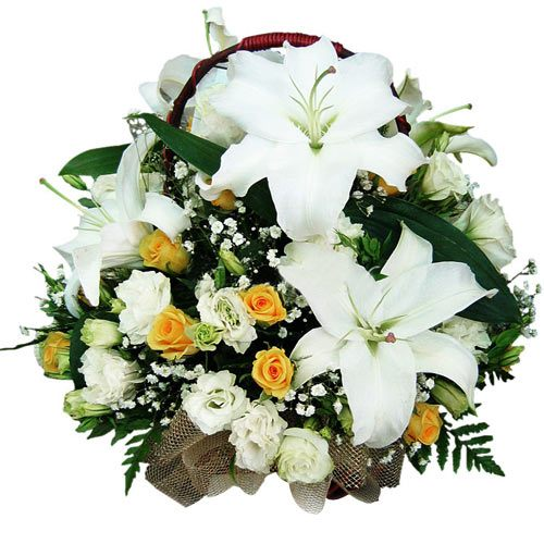 Exquisite Blend of White Arrangement