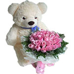 Bear  Bouquet of Roses