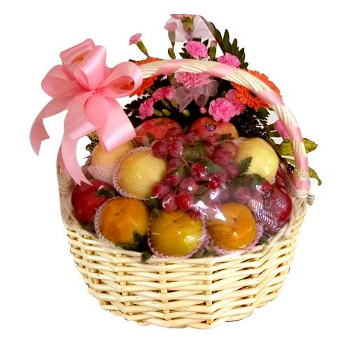 Colorful Walk of Joy Fresh Fruit Gift Basket