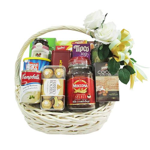 Sophisticated Basket of Assorted Gourmet N Chocolates