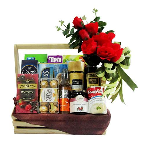 Celebration with Tea N Coffee Gift Hamper