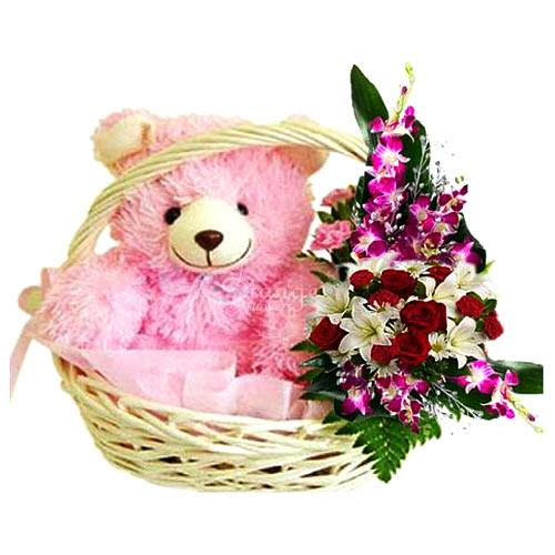 Flowers with Teddy<br>(for Bangkok only)