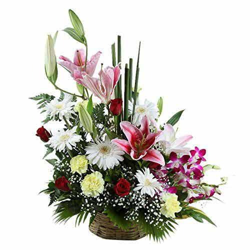 Mixed Flower Basket<br>(for Bangkok only)