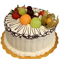Deluxe Fresh Fruits Cake<br>(for Bangkok only)